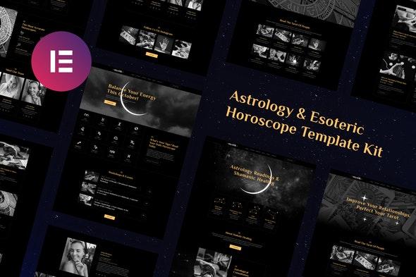 Mystik | Astrology & Esoteric Horoscope Elementor Template Kit - Health & Medical Elementor