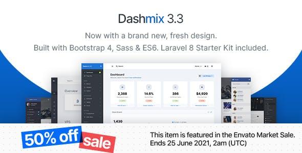 Dashmix - Bootstrap 4 Admin Dashboard Template & Laravel 8 Starter Kit
