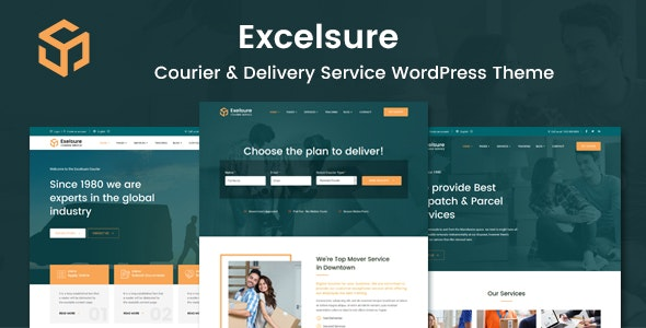 Excelsure - Courier Delivery WordPress Theme - Business Corporate