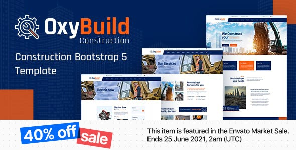 OxyBuild - Construction Bootstrap 5 Template - Business Corporate