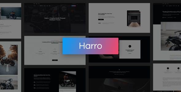 Harro - Creative Multi-Purpose HubSpot Theme