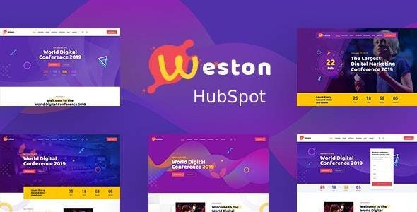Weston - Conference & Event HubSpot Theme - Corporate HubSpot CMS Hub