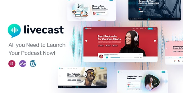 Livecast - Podcast Theme - Personal Blog / Magazine
