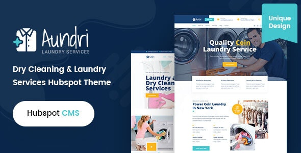 Aundri - Dry Cleaning Services HubSpot Theme - Creative HubSpot CMS Hub