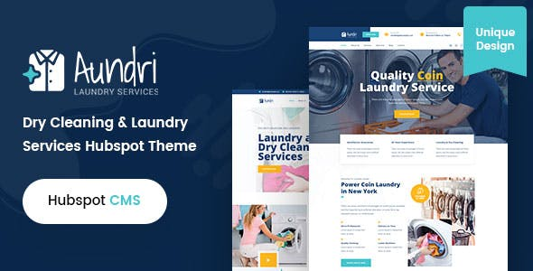 Aundri - Dry Cleaning Services HubSpot Theme