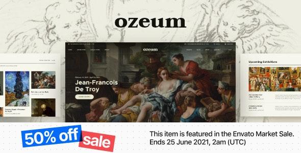 Ozeum   Modern Art Gallery and Creative Online Museum WordPress Theme +RTL - Art Creative