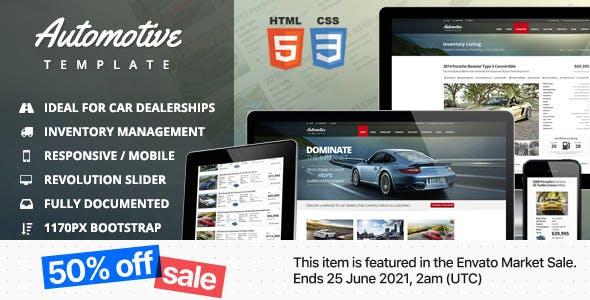 Automotive Car Dealership & Business HTML Template