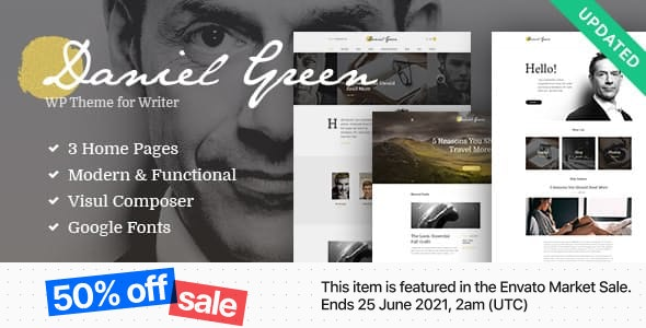 Blog for Writers and Journalists With Bookstore WordPress Theme - Personal Blog / Magazine
