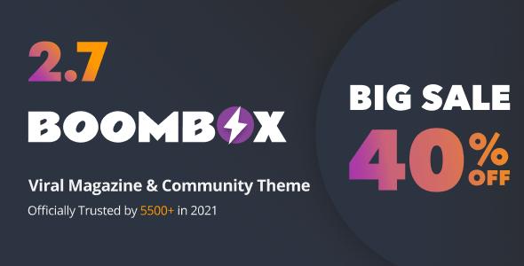 BoomBox — Viral Magazine WordPress Theme - News / Editorial Blog / Magazine