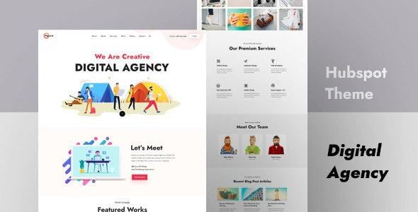 Figura - Creative Agency HubSpot Theme - Creative HubSpot CMS Hub