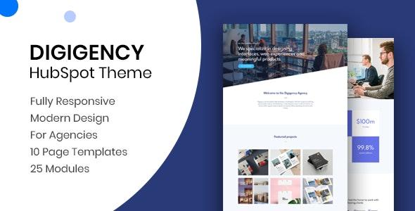 Digigency - Modern Agency HubSpot Theme - Creative HubSpot CMS Hub