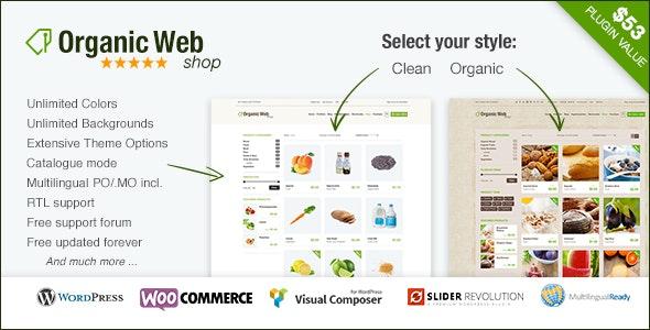 Organic Web Shop - The WooCommerce Eco Theme - WooCommerce eCommerce