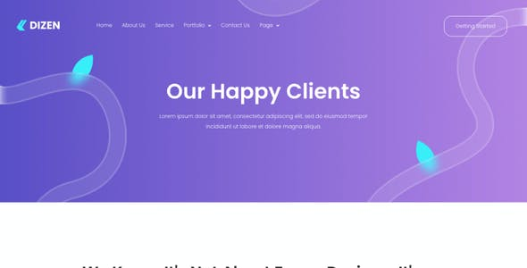 Dizen - Digital Agency Elementor Template Kit