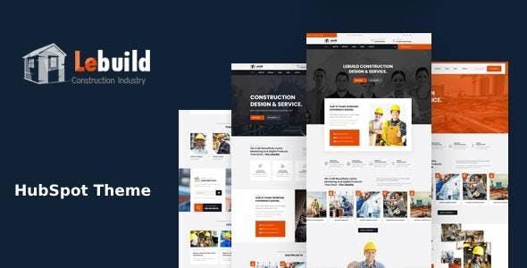 Lebuild - Construction Industry Company HubSpot Theme