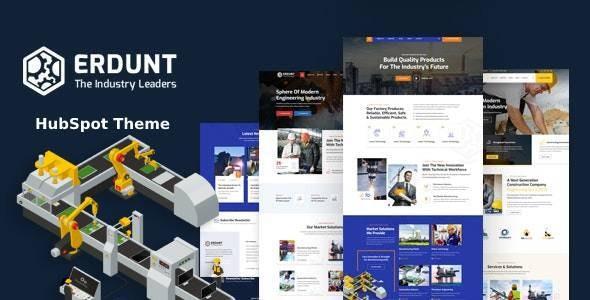 Erdunt - Industrial Business HubSpot Theme - Corporate HubSpot CMS Hub