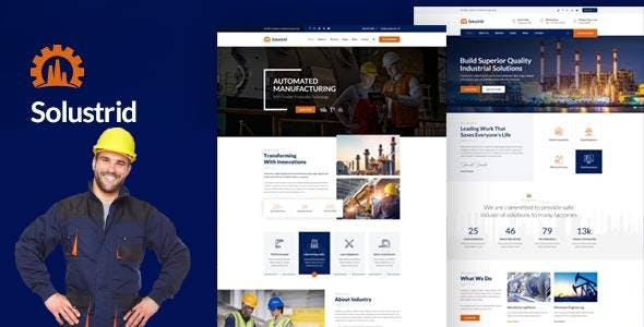 Solustrid - Factory & Industrial Business HubSpot Theme