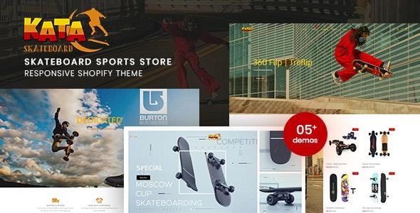 Kata - Skateboard Sports Store Shopify Theme - Shopify eCommerce