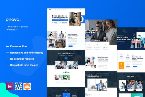 Onova - Technology IT Solutions Template Kit - Business & Services Elementor
