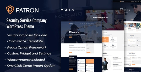 Patron - Security Service Company WordPress Theme - Business Corporate