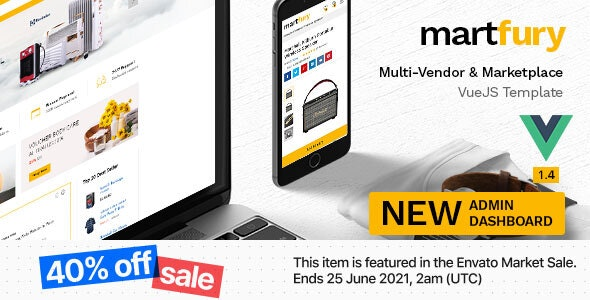 Martfury - Multipurpose Marketplace VueJS Ecommerce Template - Retail Site Templates