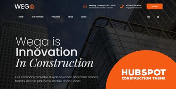 Wega - Construction HubSpot Theme - Corporate HubSpot CMS Hub