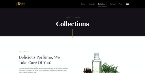 Elixir - Perfume Maker Elementor Template Kit
