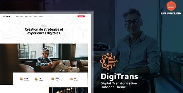 DigiTrans - Digital Transformation HubSpot Theme - Corporate HubSpot CMS Hub
