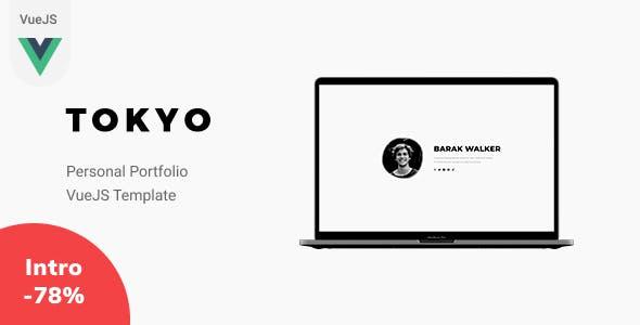 Tokyo - VueJS Personal Portfolio Template