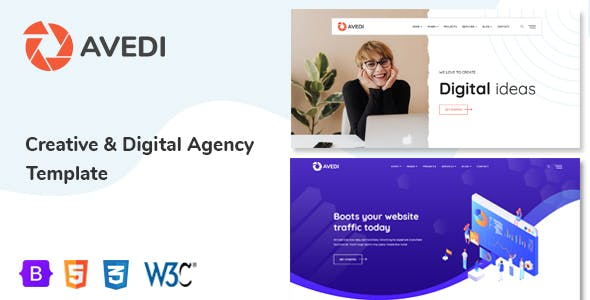 Avedi - Creative & Digital Agency  Multipurpose Template