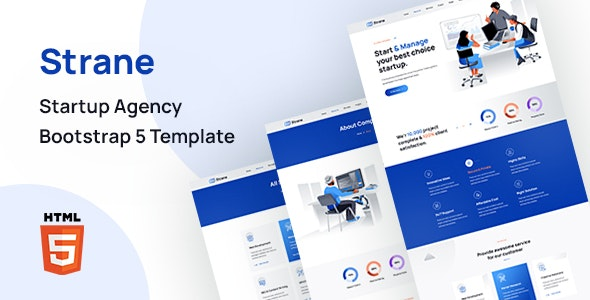 Strane - Startup Agency Bootstrap 5 Template - Business Corporate