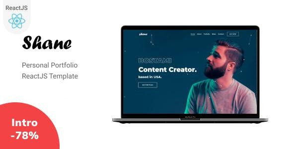 Shane - React Personal Portfolio Template