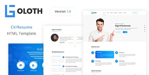 Goloth - Personal CV/Resume HTML Template