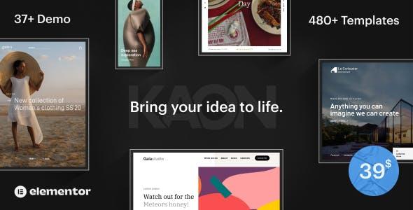 Kaon - Creative Website Builder for WordPress & WooCommerce
