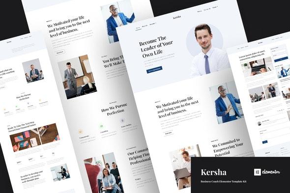 Kersha - Business Coach Elementor Template Kit - Business & Services Elementor