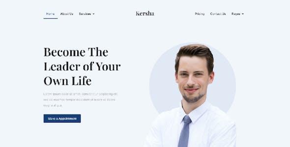 Kersha - Business Coach Elementor Template Kit