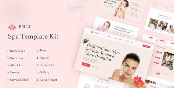 Belle | Beauty Spa Elementor Template Kit
