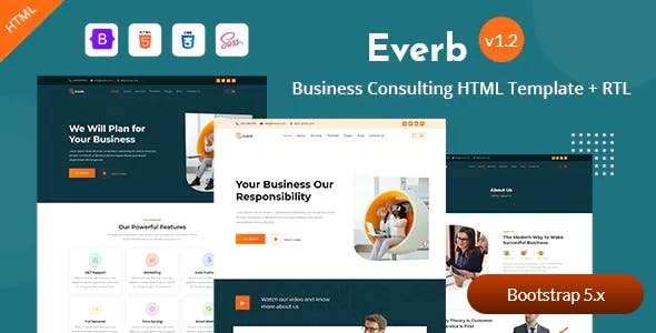 Business Consulting Bootstrap 5 Template - Everb