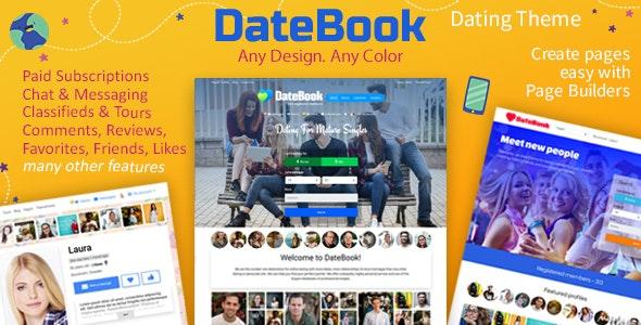 DateBook v4.5.9 – Dating WordPress Theme
