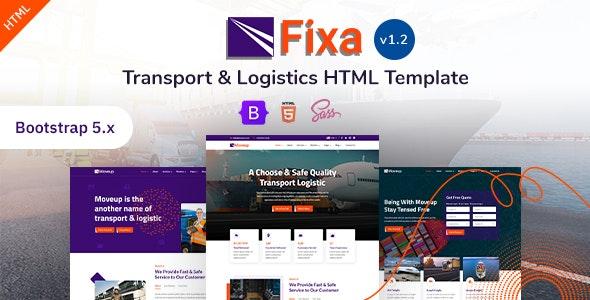 Fixa - Transport & Logistics Bootstrap 5 Template - Business Corporate