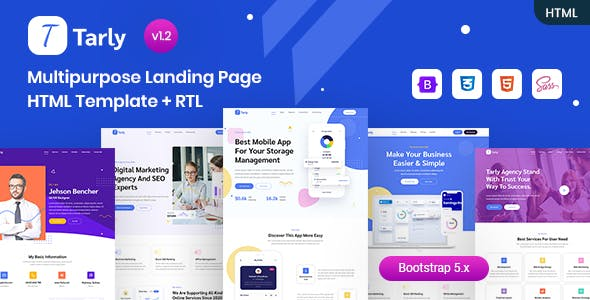 Multipurpose Landing Page HTML Template - Tarly