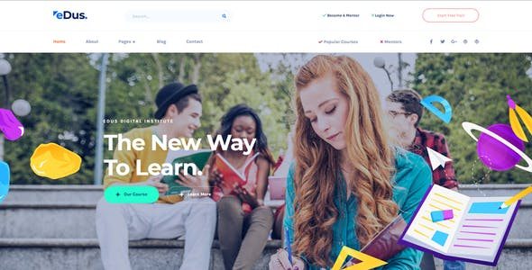 Edus - Online Education Elementor Template Kit