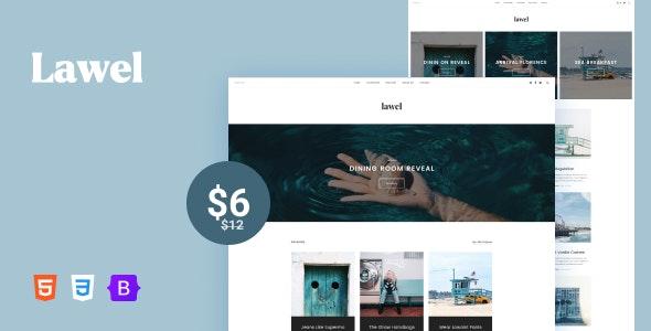 Lawel - Minimal & Modern Blog HTML Template - Creative Site Templates
