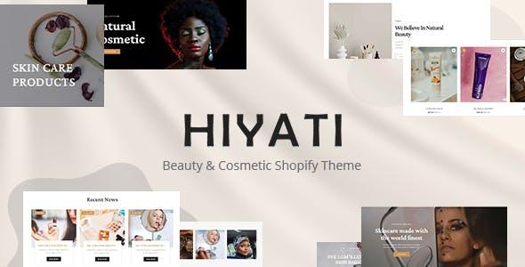 Hiyati - Beauty & Cosmetics Shopify Theme