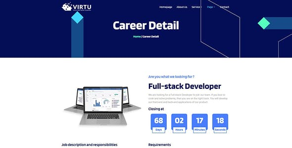 Virtu - Tech & Software Company Elementor Template kit