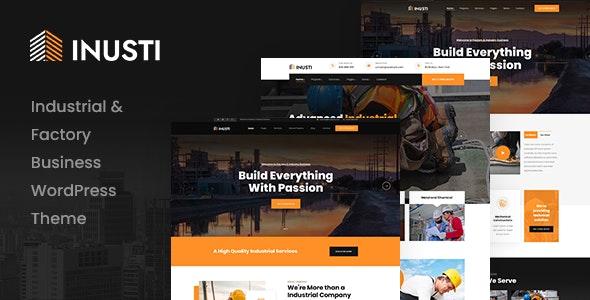 Inusti – Factory & Industrial WordPress Theme - Business Corporate