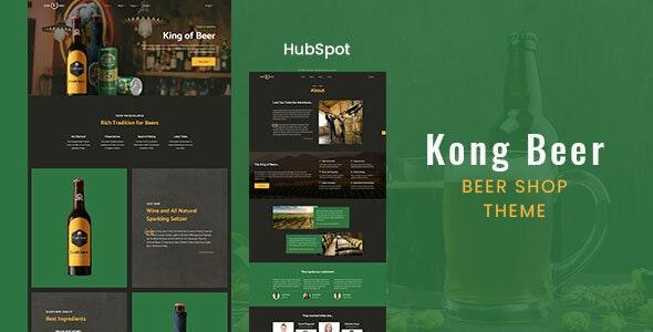 Kong - Beer & Liquor Store HubSpot Theme - Retail HubSpot CMS Hub