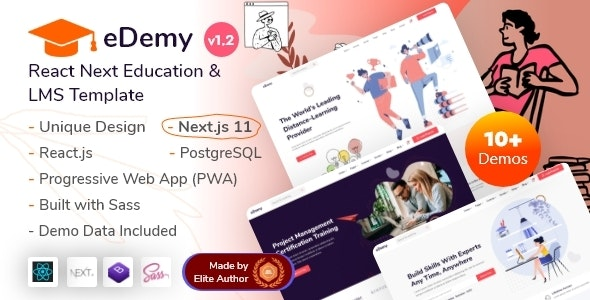 eDemy - React & Next.js Education & LMS Template - Business Corporate