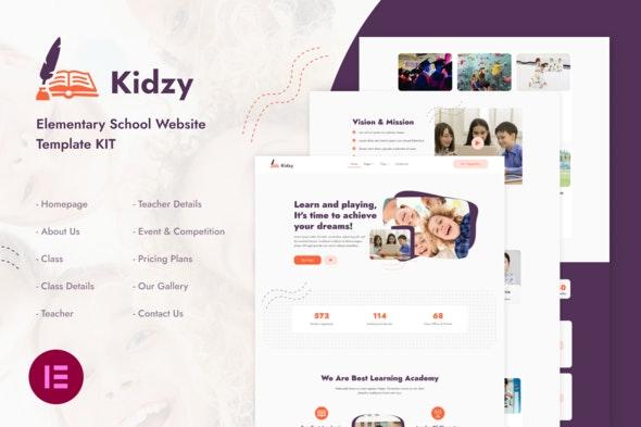 Kidzy | Elementary School Elementor Template Kit - Education Elementor