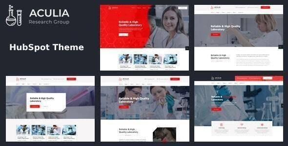 Aculia | Laboratory & Research HubSpot Theme - Corporate HubSpot CMS Hub
