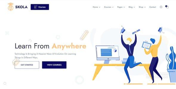 Skola - LMS Online Courses WordPress Theme